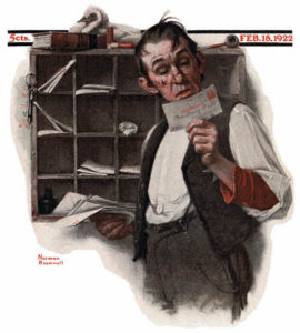 1922-02-18-saturday-evening-post-norman-rockwell-cover-postman-reading-mail-no-logo-400-digimarc