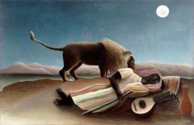 sleep lion rousseau